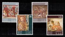 Sri Lanka - Rock & Temple Paintings , SG 599 To 602 N** MNH Complete Set - Sri Lanka (Ceylon) (1948-...)