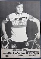 Carte Cyclisme Coureur Cycliste Flandria Carpenter Eddy GOOSSENS - Cyclisme
