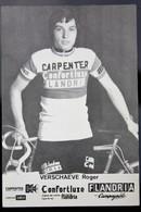 Carte Cyclisme Coureur Cycliste Flandria Carpenter Roger VERSCHAEVE - Cyclisme
