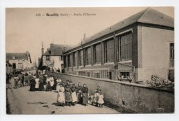 - CPA REUILLY (36) - Sortie D'Ouvroir (belle Animation) - Edition Marcoux 516 - - France