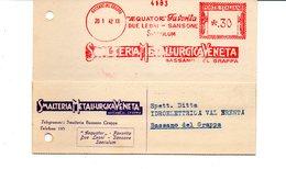1942 EMA Affrancatura Meccanica Rossa Freistempel Bassano Del Grappa Smalteria Metallurgica Veneta - Machine Stamps (ATM)