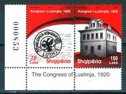 Albania 2010 Lushnja Congress 2v Se-ten MNH - Albanien