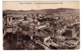 CPA 06 CANNES Vue Générale Prise Du Suquet - Carte RM 2610, Non Voyagée, écriture Plume Au Verso, Dos Divisé - Cannes
