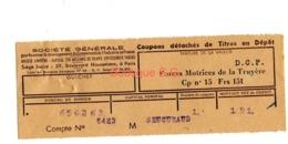 Titre En Depot Forces Motrice De La Truyere Asniere Senemaud - Other