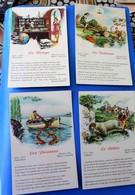 4 CPA Série Thème  Astrologie -  Le Bélier - Les Poissons - La Balance - La Vierge -Carte Postale Lire Les  Légendes - Astrology