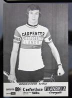 Carte Cyclisme Coureur Cycliste Flandria Carpenter Arthur VAN DE VIJVER - Cyclisme