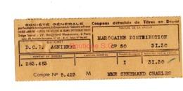 Titre En Depot Marocaine Distribution Asniere Senemaud - Other