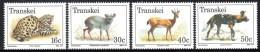 Transkei - 1988 Endangered Animals Set (**) # SG 225-228 , Mi 226-229 - Transkei