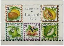Montserrat 1999, Tropical Fruit, MNH Sheet - Montserrat