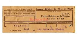 Titre En Depot Forces Motrices De La Truyere  Asniere Senemaud - Other