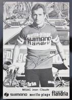 Carte Cyclisme Coureur Cycliste Flandria Jean Claude MISAC Dédicacée - Cyclisme