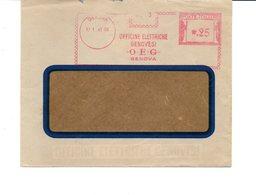 1941 EMA Affrancatura Meccanica Rossa Freistempel Genova OEG Officine Elettriche Genovesi - Machine Stamps (ATM)