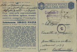 FRANCHIGIA WWII POSTA MILITARE 3500 1943 CONC MESSINA X RESUTTANO MEDAGLIA ORO MASSA - 1900-44 Vittorio Emanuele III