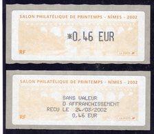 Pont Du Gard Nîmes Vignette Salon Philatélique De Printemps - 1999-2009 Vignettes Illustrées