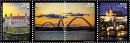 BRAZIL 2020 - Castles And Bridges  - Diplomatic Ties Series:  Brazil - Czech Republic - Slovakia  -  S/T 4v  Mint - Brasilien