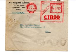 1933 EMA Affrancatura Meccanica Rossa Freistempel San Giovanni A Teduccio -Napoli- Conserve CIRIO Alimentazione - Machine Stamps (ATM)