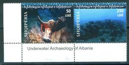 Albania 2010 Underwater Archaeology 2v Se-ten MNH - Albania