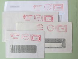Banche, Assicurazioni, Finanza, Lotto Di 20 Pezzi ( 6 Scan) Affrancature Mecc. Diverse, Tariffe Diverse - Affrancature Meccaniche Rosse (EMA)