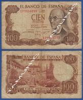 SPAIN 100 Pesetas 1970 MANUEL DE FALLA And GENERALIFE OF GRENADA - [ 3] 1936-1975 : Régimen De Franco