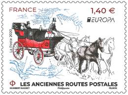France 2020 - Europa - Anciennes Routes Postales ** - Unused Stamps