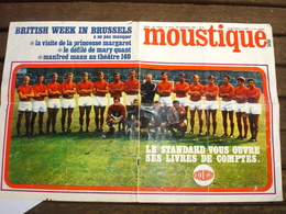 FOOTBALL STANDARD DE LIEGE 1967 - ANCIEN POSTER ( COUVERTURE DU MAGAZINE MOUSTIQUE ) - Afiches