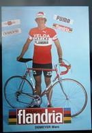Carte Cyclisme Coureur Cycliste Flandria Velda Marc DEMEYER - Cyclisme