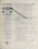 75 - Paris - PARIS - Facture BONNOT - Expert Près Les Tribunaux Et Le Douane, école De Comptabilité - 1891 - REF 288 - France