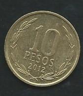 Chili   /   CHILE 2012: 10 Pesos -   Laupi 12512 - Chile