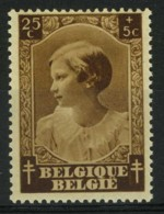 België 459-V2 ** - Schaduw In De Hals - Ombre Dans Le Cou - Variétés (Catalogue COB)