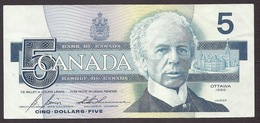 Canada - 1986 Five 5 Dollars, Laurier, Martin-pecheur, Belted Kingfisher, Ottawa, Buildings, Landscapes, Birds - Canada