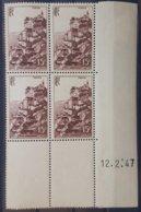 """N° 763 Cote 25 € ** (MNH). Coin Daté Du 12/2/47 """"Roc Amadour"""". - 1940-1949"""