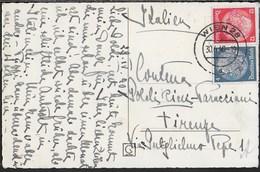 AUSTRIA - CARTOLINA FORMATO PICCOLO DA WIEN 28 30.04.40 PER FIRENZE - AFFRANCATURA TEDESCA - Briefe U. Dokumente