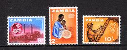 Zambia   -  1964.  Lavoratori Del Legno E Impagliatori. Woodworkers And Straw Dealers. MNH - Berufe
