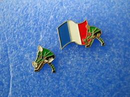 957     PINS     RUGBY Joueur Et Drapeau Tricolore - Rugby