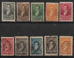 1891-2 Argentina Personajes 10v. - Argentina