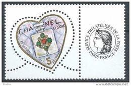 """FR Personnalisés YT 3632A Feuille """" Coeur Chanel - Cérès """" 2004 Neuf** - Personalized Stamps"""