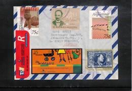 Argentina 1995 Interesting Airmail Registered Letter - Argentina