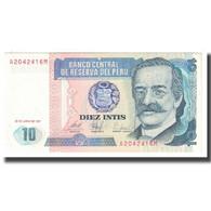 Billet, Pérou, 10 Intis, 1987, 1987-06-26, KM:128, SPL - Perù