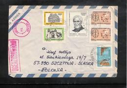 Argentina 1981 Interesting Airmail Registered Letter - Argentina
