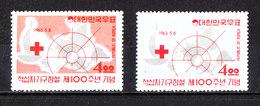 Corea Sud   -   1963.  Croce Rossa. Red Cross. Complete MNH Series - Rode Kruis