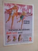 SPITIN20 :  BARBIE  Pour  Collectionneurs ... PUBLICITE EN HOLLANDAIS Page De Revue SPIROU Des Années 60/70 - Barbie