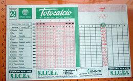 TOTOCALCIO 15/2/1998 SCHEDINA - Biglietti Della Lotteria