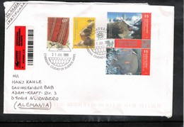 Argentina 2009 Interesting Airmail Registered Letter - Argentina