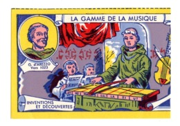 Buvard La Gamme De La Musique Arezzo Inventions Et Decouverte - Blotters