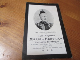 Dp, 1836 - 1902, Pesth/ Spa, Maria Hendrika, Koningin Der Belgen - Images Religieuses