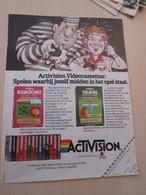 SPITIN20 Page De Pub Tiré De Spirou Hollandais : Cassette Pour Jeu ATARI ACTIVISION - Atari
