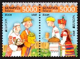 408 - Belarus - 2012 - Europa Visit - 2v Se-ten - MNH - Lemberg-Zp - Wit-Rusland