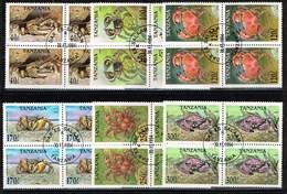 Tansania 1994, Michel # 1923 - 1928 O Krabben Im Viererblock - Tanzanie (1964-...)