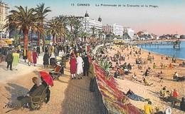 CPA - CANNES - Vue Générale - La Promenade De La Croisette Et La Plage - - Cannes