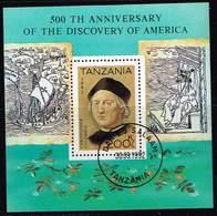 Tansania 1992, Michel # Block 189 O  500th Anniversary Of The Discovery Of America - Tanzanie (1964-...)